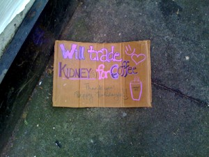 Kidneys for Coffee