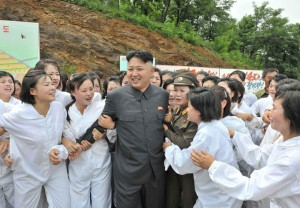 kim with the ladies